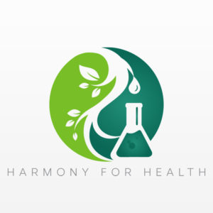 Harmony for Health Plant Like Yin Yang Logo with Name